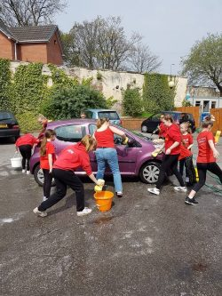 car washfundraiser at The Fountains Care Centre